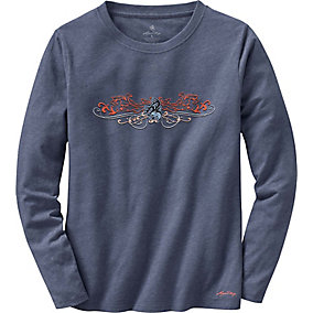 Ladies Cypress Long Sleeve Crew Neck T-Shirt