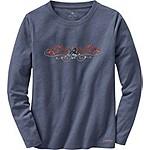 Ladies Cypress Long Sleeve Crew Neck T-Shirt