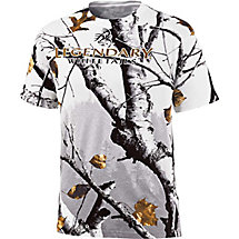 Backwoods Big Game Snow Camo Short Sleeve T-Shirt at Legendary Whitetails