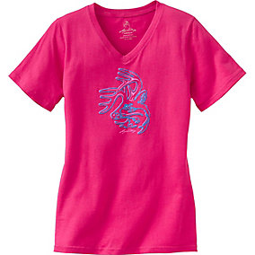 Ladies Electric V-Neck T-Shirt