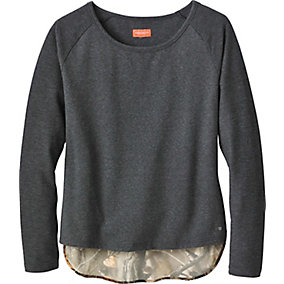 Ladies Hide-n-Seek Big Game Camo Raglan Pullover