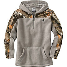 Youth Trekker Fleece 1/4 Zip Camo Hoodie at Legendary Whitetails