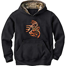 Boys Textpac Realtree Xtra Camo Buck Hoodie at Legendary Whitetails