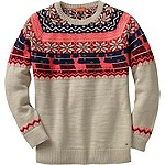 Ladies Sleigh Ride Fair Isle Sweater
