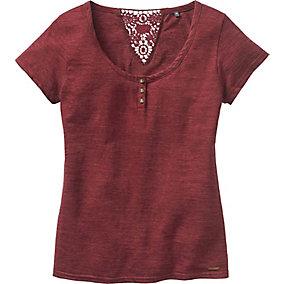 Ladies Red Rock Short Sleeve Henley