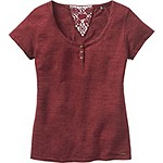 Ladies Red Rock Short Sleeve Henley