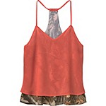 Ladies Country Girl Chiffon Big Game Camo Tank