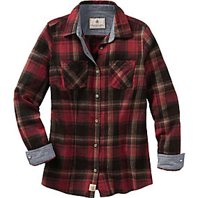 Ladies Cottage Escape Plaid Flannel Shirt