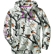 Ladies Camo Power  ¼  Zip Hoodie at Legendary Whitetails