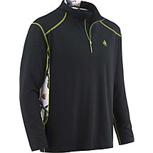 Mens Endurance Snow Camo Black Performance 1/4 Zip at Legendary Whitetails