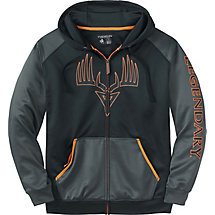 Mens Broadhead Monster Full-Zip Performance Hoodie at Legendary Whitetails