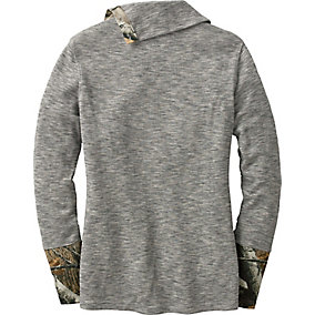Ladies Hardwoods Camo Button Neck Thermal