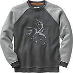 Mens Vintage Deer Camp Heavyweight Crew Sweatshirt