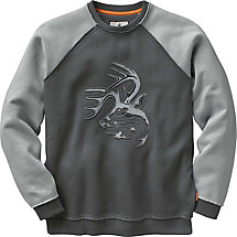 Mens Vintage Deer Camp Heavyweight Crew Sweatshirt at Legendary Whitetails