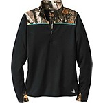 Ladies Full Range Big Game Camo Performance ¼ Zip