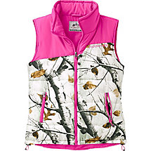 Ladies Big Game Snow Camo Hightail Outfitter Vest at Legendary Whitetails