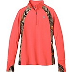 Ladies Intensity Big Game Camo Performance ¼  Zip