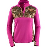Ladies Broadhead Realtree Camo Performance ¼ Zip