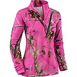 Ladies Performance Realtree Camo � Zip Mock