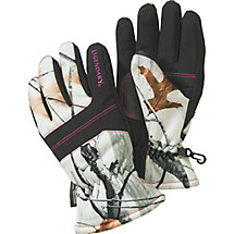 Ladies Snowdrift Big Game Camo Gloves at Legendary Whitetails