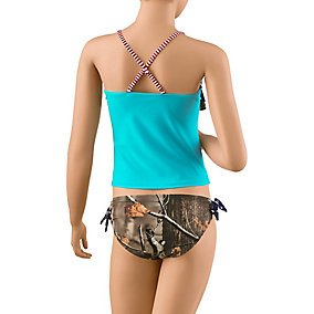 Girls Americana Big Game Camo Swimsuit