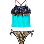 Girls Americana Big Game Camo Swimsuit