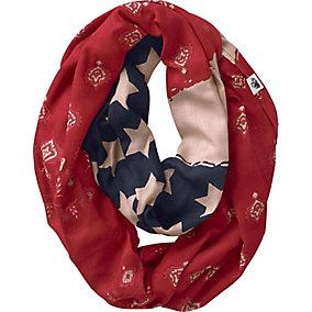 Ladies Patriotic Bandana Infinity Scarf