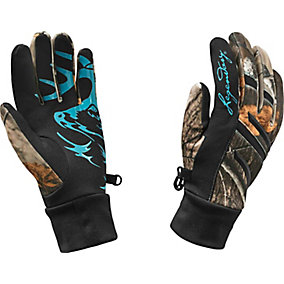 Ladies Big Game Camo Predator Text Glove