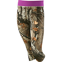 Girls Dedication Performance Camo Capris at Legendary Whitetails