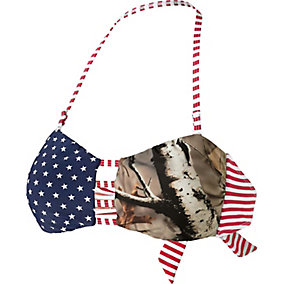 Ladies True To Roots Bandeau Bikini Camo Top