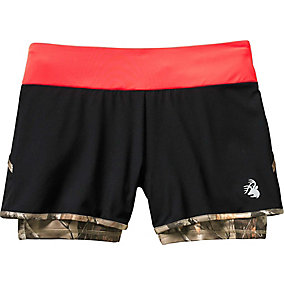Ladies Sunset Performance Camo Lined Shorts