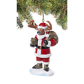 Santa Buck Holiday Hunting Ornament