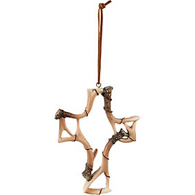 Deer Antler Cross Ornament