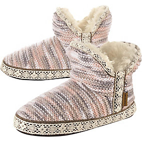 Ladies Cozy Cabin Slipper Booties