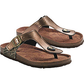 Ladies North Point Big Game Camo Sandals