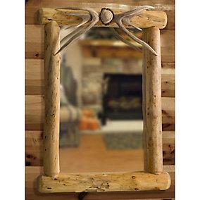Lodgepole Deer Antler Mirror