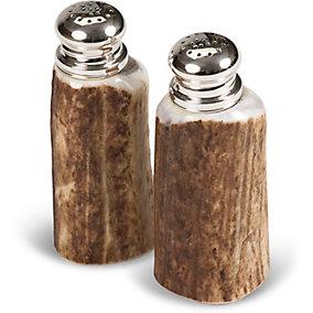 Deer Antler Salt & Pepper Shakers
