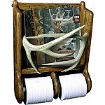 Deer Antler Magazine Rack & TP Holder