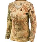 Women's Tranquility Long Sleeve V-Neck Shirt at Legendary Whitetails