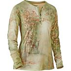 Women's Wooded Serenity Long Sleeve Henley at Legendary Whitetails