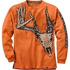Men's Running Rebel Long Sleeve Deer T-Shirt at Legendary Whitetails