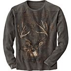 Men's Midnight Trail Weathered Thermal Crew at Legendary Whitetails