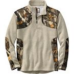 Men's Big Game Camo Apex II ¼  Zip Sweater Fleece at Legendary Whitetails