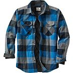 Men's Woodsman Quilted Plaid Shirt Jacket at Legendary Whitetails