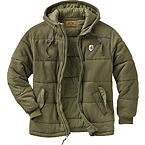 Men's Stag Land Hooded Green Jacket at Legendary Whitetails