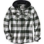 Women's Grand Wood Button Down Plaid Hoodie at Legendary Whitetails