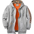 Men's Buckshot Workwear Hooded Sweatshirt Jacket at Legendary Whitetails
