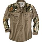 Men's God's Country Camo Button Down Camp Shirt at Legendary Whitetails