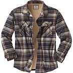 Men's Deer Camp Fleece Lined Flannel Shirt Jac at Legendary Whitetails