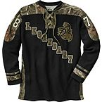 Men's Mossy Oak Camo Defender Hockey Jersey at Legendary Whitetails